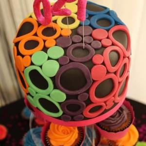Neon top cake