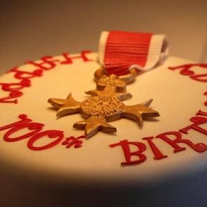 OBE celebration cake