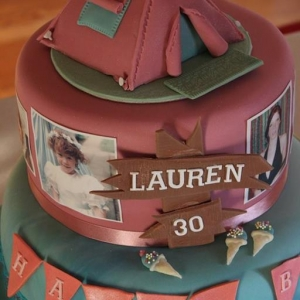 Outdoor camping cake