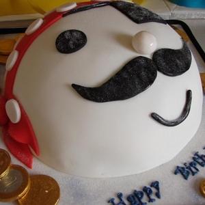 Pirate face celebration cake