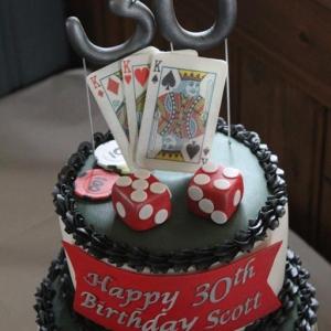 Poker celebration cake