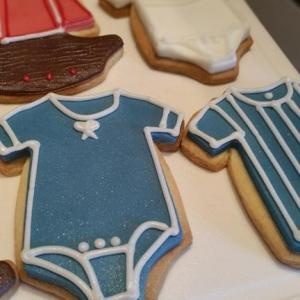 Blue baby grow cookies