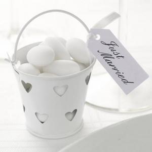 Sugar almond bucket favour