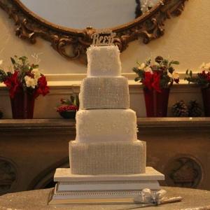 Christmas diamonds wedding cake