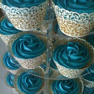Jade rose cupcakes