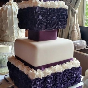 purple ruffle roses square